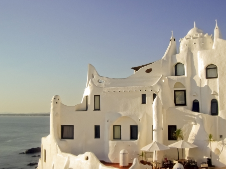 Casapueblo house in Punta del Este, one of the famous landmarks from this place in Uruguay.