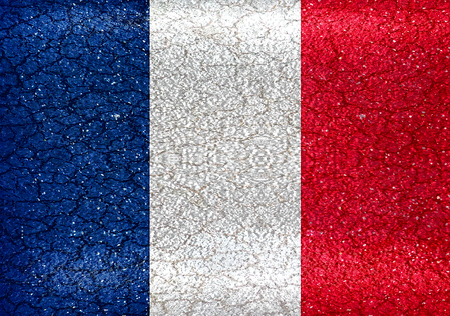 France grunge style flag in vibrant colors  photo
