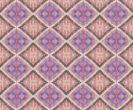 able: Real fabric diamond motif pattern in multicolored tones  Stock Photo