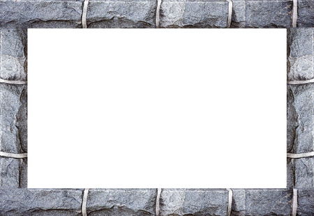 Rock Borders Background Frame In White Background Stock Photo ...
