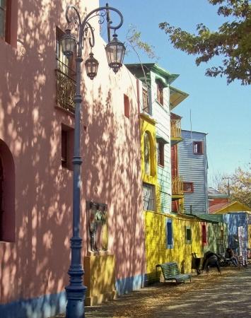 buenos aires: Street of La Boca in Buenos Aires, Argentina