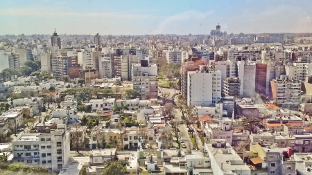 Aerial View of the capital citiy of Uruguay, South America