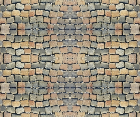 Digital mockup cobbles street tile able pattern useful as texture, material or background