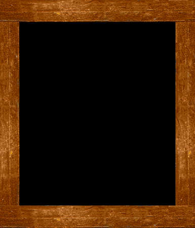 wasted: Black background frame mock up with real wood borders in vibrant brown tones.