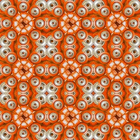 High tech futuristic abstract digital style pattern artwork in orange and gray tones. photo