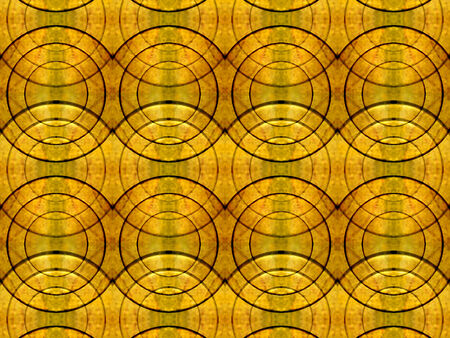 uniqueness: Futuristic stlye abstract background also useful as pattern in hot orange and green tones  Stock Photo