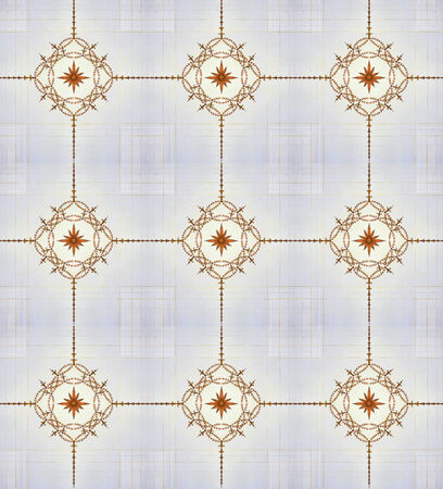 delicated: Delicated ornament shapes artwork background also useful as pattern or decorative design in brown and gray tones.