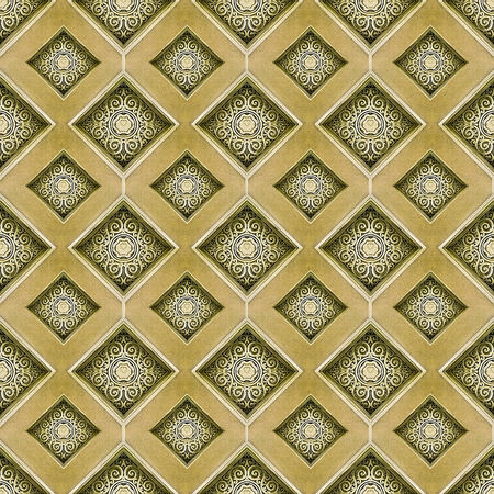 Diamond motif digital pattern artwork in yellow and orange tones photo