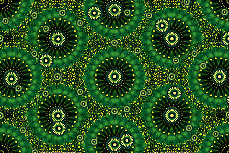 abstracto: Complex ornamental photo manipulated digital collage artistic design in green tones. Stock Photo