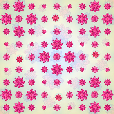 motif pattern: Colorful and fresh floral motif pattern composition design in square format  Stock Photo
