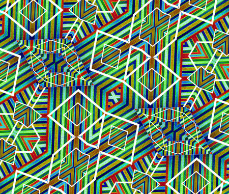 screensaver: Digital technique geometric abstract background pattern in colorful scheme compposition