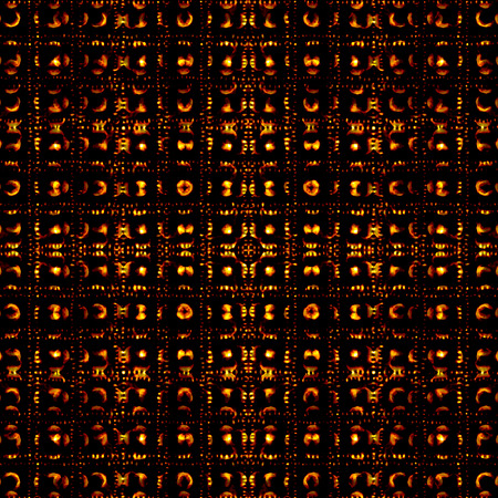Abstract dark tribal pattern background in vivid warm tones over black. photo