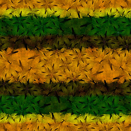 motif pattern: Floral motif pattern with the colors of jamaica and regaee music style.