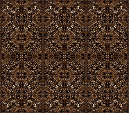 surrealist: Digital manipulated technique pattern artwork made it from iron pictures in dark brown tones. Stock Photo