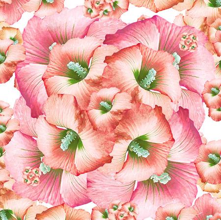 Digital art technique feminine decorative floral collage pattern motif in pastel colors photo