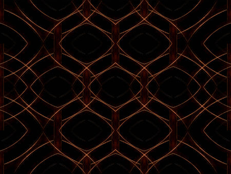 manipulated: Digital art geometric abstract background pattern with circles motif in warm dark tones Stock Photo