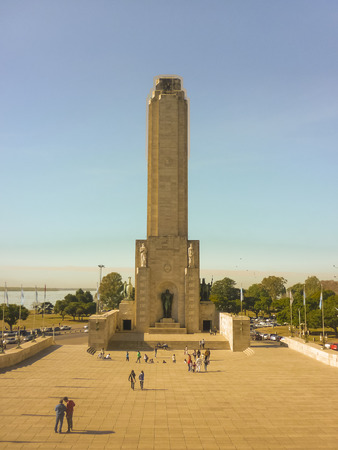 ROSARIO, ARGENTINA , JULY 2014 -The National Flag Park In Rosario is the place where General Manuel Belgrano hoisted and first hoisted the flag Argentina, on February 27, 1812, on the banks of the Parana River. Editorial