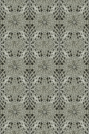 art materials: Stone arabesque ornament photo manipulated digital art pattern background in gray tones. Stock Photo