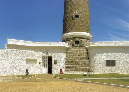 ignacio: Facade of the lighthouse of Jose ignacio, an exclusive watering place in Uruguay