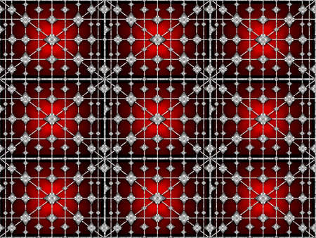 vivid colors: Digital technique collage style futuristic tech abstract background pattern with geometric motif in vivid reds and black colors.