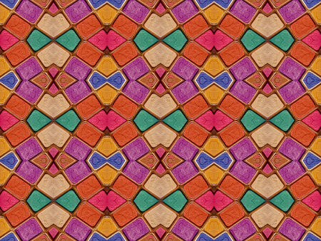 modules: Colorful multicolored geometric abstract digital photo collage technique pattern background.