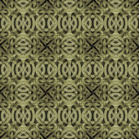 Islamic style art stone motif abstract geometric arabesque photo collage manipulated digital technique pattern background in brown tones. photo