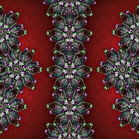 manipulation: Refined digital photo manipulation technique decorative artwork  jewerly motif and textured floral pattern background in saturated mixed colors..