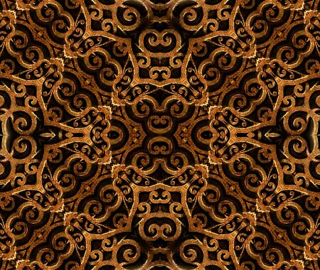 motif pattern: Islam or arabic style art ornament arabesque motif pattern in hard contrast and brown colors