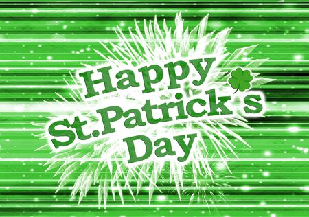 Unique and different happy sant patricks day modern style design in colorful and saturated green tones photo
