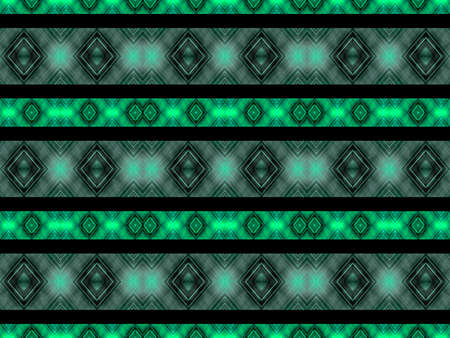futurism: Geometric abstract digital technique diamonds motif futuristic pattern in cold colors and black background.