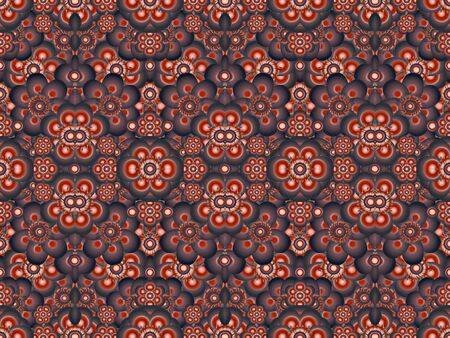 motif pattern: Colorful geometric floral motif pattern vivid red and blue colors. Stock Photo