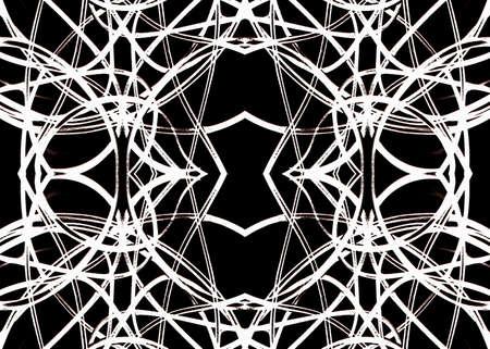 modules: Digital geometric futuristic grunge modern pattern background black and white tones. Stock Photo