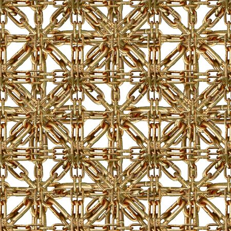 photo collage: Chain tile pattern photo collage in brown tones and white background.