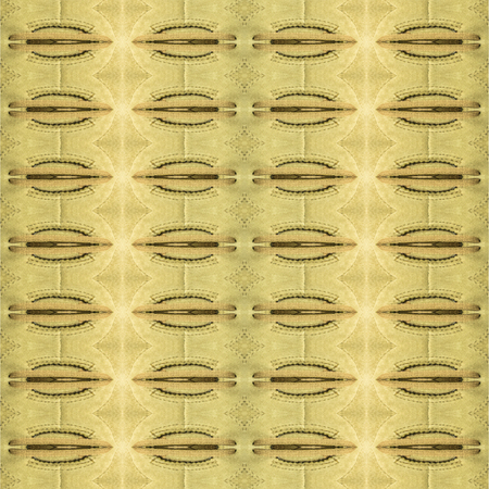 motif pattern: Digital collage style futuristic or tech geometric abstract motif pattern background in warm tones. Stock Photo