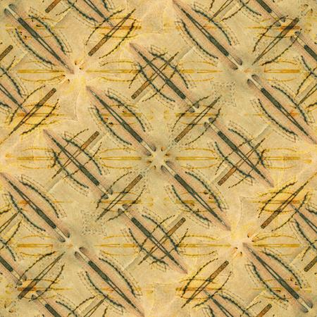 motif pattern: Digital collage style futuristic or tech geometric stars motif pattern background in warm tones.