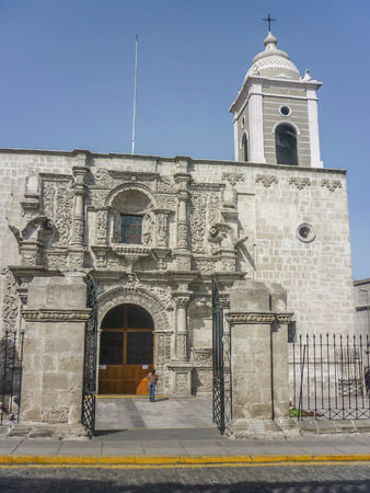 eclectic: Eclectic old style church in historic center of Arequipa city in Peru, south america.