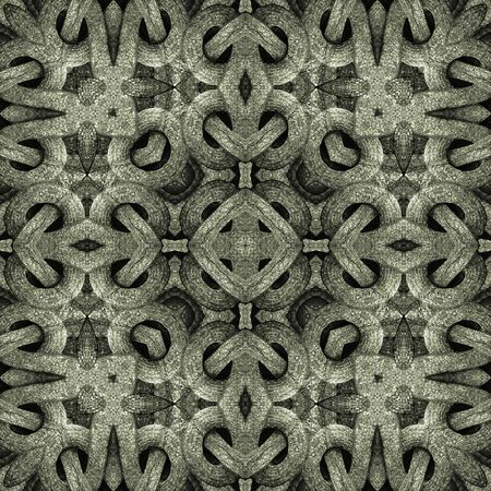 manipulated: Islamic style artwork abstract geometric arabesque motif photo collage manipulated digital technique pattern background in silver and gray tones.