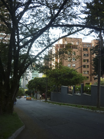 medellin: Traditional view of the beautiful El Poblado neighbourhood, one of the most exclusive places in Medellin, Colombia.