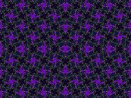 cold colors: Luxury decorative ornament seamless abstract pattern motif in dark cold colors.