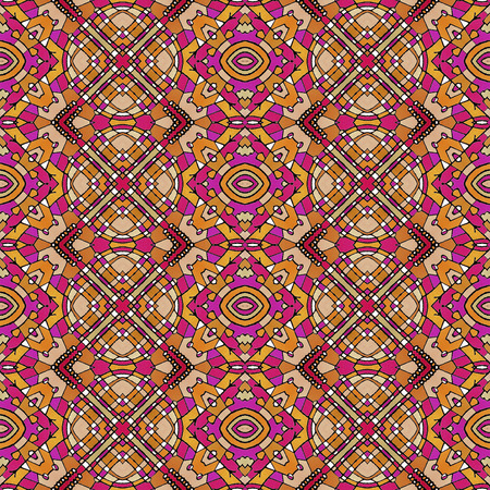 saturated: Colorful geometric abstract seamless pattern in multicolored vivid and saturated tones.