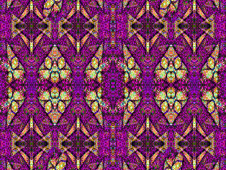 vivid colors: Luxury decorative modern ornament abstract seamless pattern in vivid gold and magenta colors.
