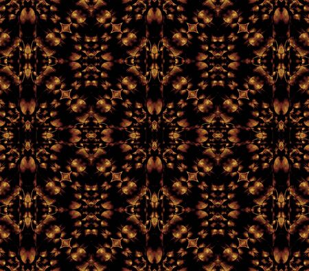 sophisticate: Geometric ornament abstract seamless pattern in brown and black colors.
