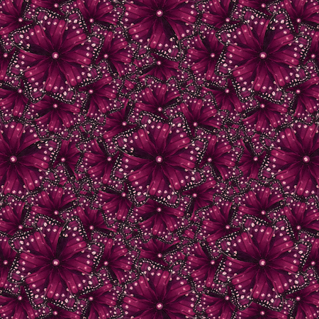 sophisticate: Luxury decorative modern baroque ornament abstract pattern in magenta and white colors.