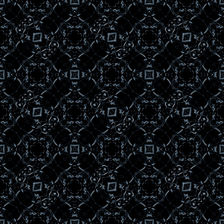 checks: Geometric ornament abstract checks seamless pattern in dark blue and black colors.