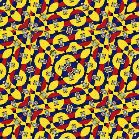 manipulation: Digital photo manipulation collage technique ecuador flag geometric modern pattern design
