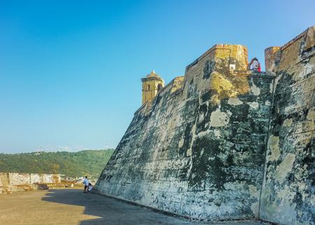 barajas: San felipe de Barajas Fortress, an spanish colonial style defense building located in Cartagena,  Colombia Editorial