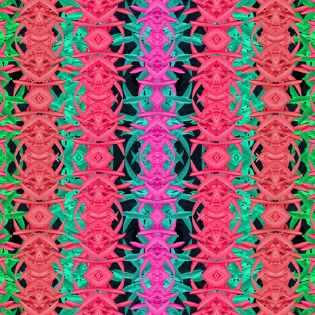 manipulation: Digital art photo manipulation and collage technique modern oriental styel decorative abstract geometric ornate seamless pattern in multicolored tones.