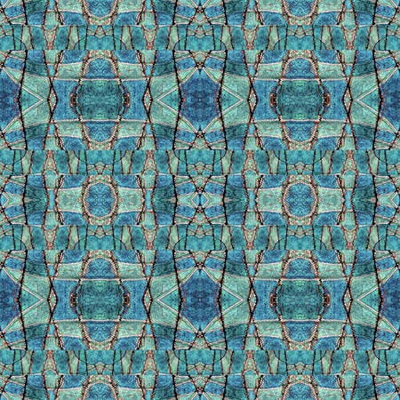 vivid colors: Abstract geometric grunge textured seamless pattern in vivid cold colors.