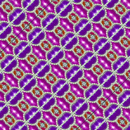 mixed colors: Digital art technique luxury geometric modern checks seamless pattern in vivid mixed colors.