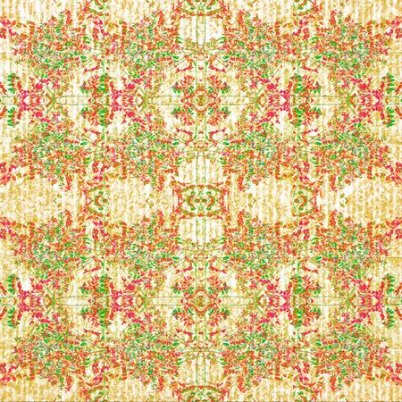 manipulation: Digital collage and manipulation technique vintage intricate floral collage motif seamless pattern in pale warm tones and light background.